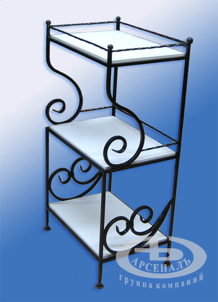 кованная этажерка для цветов фото
